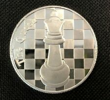"The Queen - 1 Troy Oz .999 Silver Round Chess Coin - 1 9/16"" Dia."