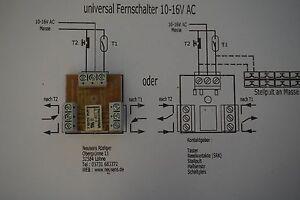 Universal Fernschalter, bistabil,  2 Umschalter 10-16V (1)