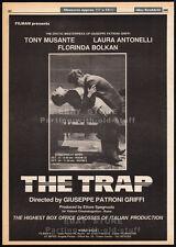 THE TRAP aka LA GABBIA__Original 1985 Trade AD / poster__LAURA ANTONELLI_MUSANTE