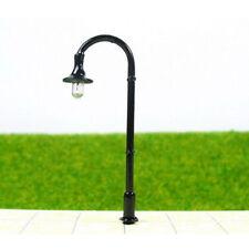 10pcs Model Trains Street Light Lamppost lamp 150 N Scale 4.5cm 12v Black