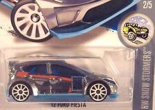 Hot Wheels 1:64 2015 Snow Stormers 2/5 '12 Ford Fiesta WRC Zamac Blue Interior