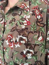 Roman's  Plus Size 1X Women Shirt Button Down  Floral Designer Fashion Hip