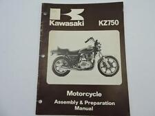 Vintage 1979 Kawasaki KZ750 Motorcycle Assembly & Preparation Manuel Book L6964
