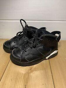 Jordan 6 Retro BT Toddler Shoes Black-White 384667-020 us 9c uk 8.5
