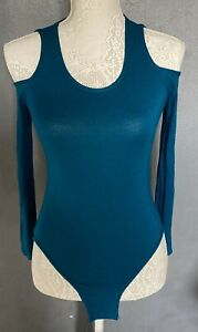 Womens Teal Cold Shoulder Body Suit Never Been Worn Size 12