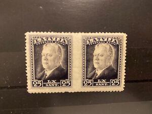 Latvian First Independence Ulmanis Imperf Between Pair