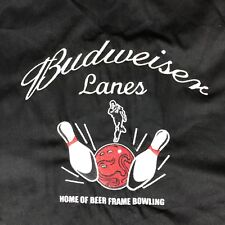 Budweiser 3XL Mens Red Black Beer Frame Bowling Collared Button Down Shirt NWT