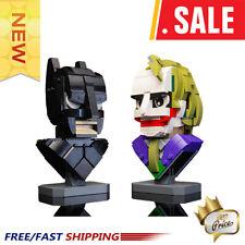 Dark Knight Batman and Clown Bust Collection MOC 22597 Building Blocks Brick Toy