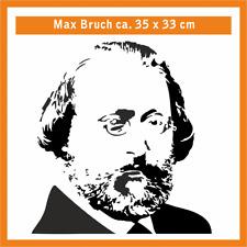 MAX BRUCH Wandtatoo, ca. 35 x 33 cm, Hochleistungsfolie mit Montagepapier