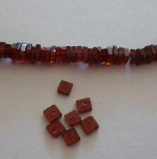 10 Stück Granat Perlen Quadrat Platte 2x4mm zur Schmuckherstellung