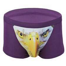 Wolf Men's 3D Animal Print Eagle/Owl Trunks Boxer Shorts Pants Cotton Underwear