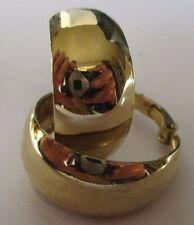 boucles d'oreilles bijou rétro percées couleur or anneaux rhodié 402