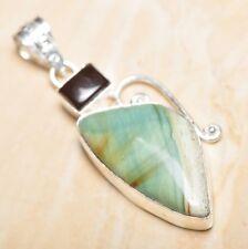 "Handmade Natural Ocean Jasper Gemstone 925 Sterling Silver Pendant 2.25"" #P16740"
