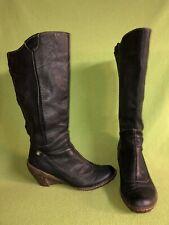 Black El Naturalista Zip-Up Wedge Boots 9 40