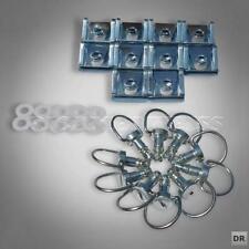 10xDZ1 Schnellverschlüsse Schnellverschluss Fasteners Dzus Drehverschluss Silber