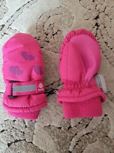 N'ICE CAPS Toddler Girls Winter Mittens, Pink, 2t/3t Size. GUC