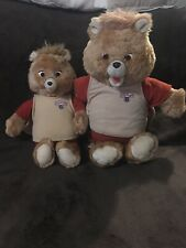2 Vintage 1984/1985 Teddy Ruxpin Talking Bear Plush Worlds Of Wonder Non Working