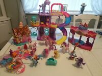 My Little Pony Rainbow Castle  Rarity Carousel Boutique Pinkie Pie Sweet Shop