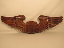 Vintage 1969 United States Air Force USAF Wood Wings Plaque Signed