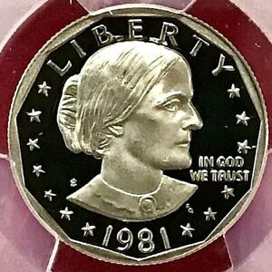 1981 S SUSAN B ANTHONY DOLLAR PCGS PR70 DCAM TYPE 2