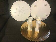 HOMEMADE CAKE TOWERS, 4 PILLARS 2 CAKE PLATES