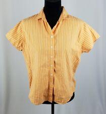 Woolrich women LP orange button down short sleeve shirt