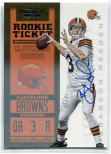 2012 Panini Contenders BRANDON WEEDEN Rookie Ticket Auto Cleveland Browns