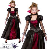 Deluxe Womens Evil Horror Vampire Vampiress Queen Halloween Fancy Dress Costume