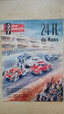 ACTION AUTOMOBILE 24 HEURES DU MANS JUIN 1957 JOLIE COUVERTURE ILLUSTREE