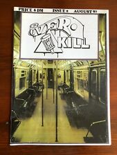 OVERKILL MAGAZINE 2 GRAFFITI WRITING S BAHN U BACKJUMPS ON THE RUN BOMBER BERLIN