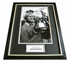 JACK NICKLAUS HAND SIGNED & FRAMED AUTOGRAPH PHOTO DISPLAY GOLF OPEN GIFT & COA