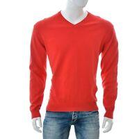 Gant Hommes Col V Tricot Pull Chemise Large Rouge Long Haut Manche Authentique