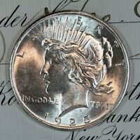 * 1925-P * CHOICE - GEM BU MS PEACE SILVER DOLLAR * FRESH FROM ORIGINAL ROLL *