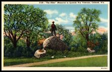 "Mid-1900s ""The Hiker"" Memorial to Spanish War Veterans, Oshkosh, WI Postcard"