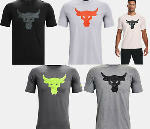 2021 Under Armour Mens UA Project Rock Brahma Bull T-Shirt Dwayne Rock Johnson