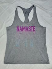 Nwt Nike Namaste Fit Yoga Racerback Tank - M - Gray Purple to Teal Blue Ombre