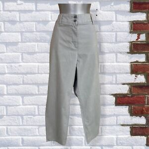 NEXT - Womens UK 18R Grey Chino Straight Leg Trousers