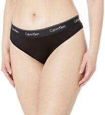 New Calvin Klein Women's Black Modern Cotton Thong Panty Size 1X QF5117
