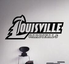 Louisville Cardinals College Football Logo Wall Decal NCAA Vinyl Sticker (19nc)
