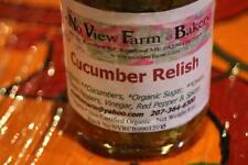 2 Cucumber Relish 8oz Jars from Maine No View Farm Organically Grown Vegetables