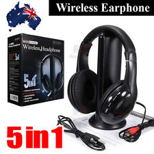 Wireless 5 In 1 Headphone Headset Cordless MP3 PC TV CD FM Radio