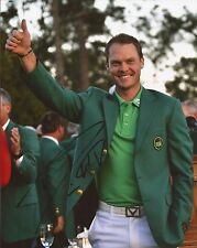 GOLF: DANNY WILLETT SIGNED 10x8 2016 MASTERS ACTION PHOTO+COA *GREEN JACKET*