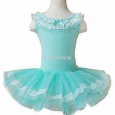 Flower Girls Kids Ballet Dress Dance Tutus Costume Lace Leotard Dancewear Skirt