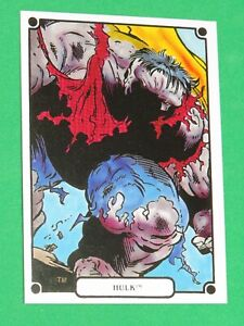 1988 Marvel Universe IV 4 Heroic Origins Comic SINGLE CARD #35 HULK! AVENGERS!