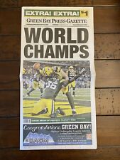 New listing GREEN BAY PACKERS SUPER BOWL NEWSPAPER. PRESS GAZETTE. AARON RODGERS 2.6.2011
