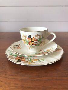Vintage Empire England Porcelain Gloria Tea Trio Cup Saucer And Plate England