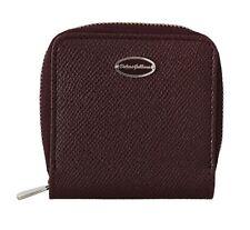 DOLCE & GABBANA Wallet Bordeaux Leather Coin Card Zipper Continental RRP $260