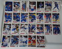 1991-92 Upper Deck UD Quebec Nordiques Team Set of 26 Hockey Cards No #524 #529