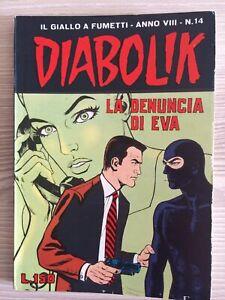 "Diabolik Anno VIII N.14 ""La denuncia di Eva"". 7/7/1969."