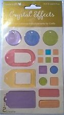 Dovecraft Cristal efectos etiquetas Pasteles Embelishments tarjetas colección de recortes